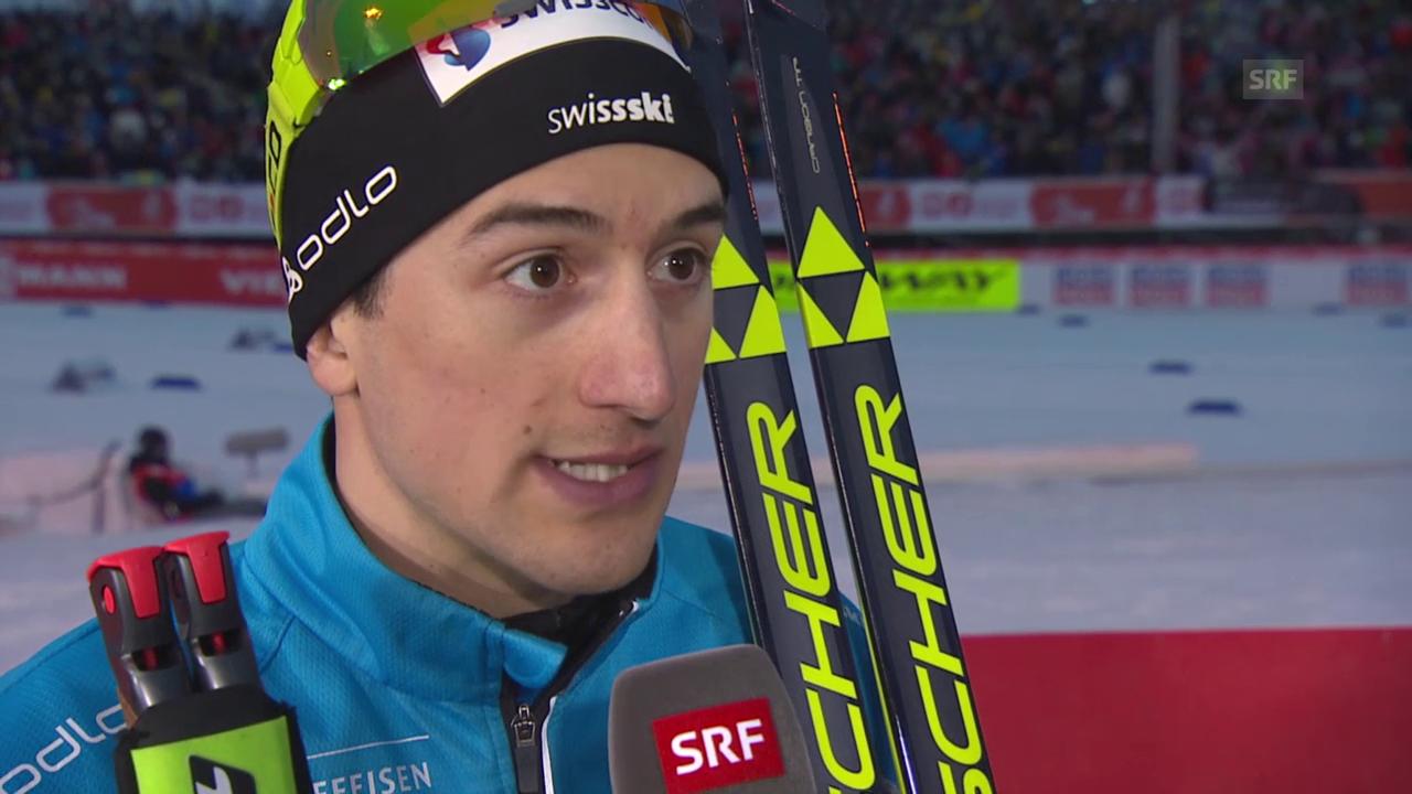 Ski nordisch: WM Falun, Sprint, Interview Ueli Schnider