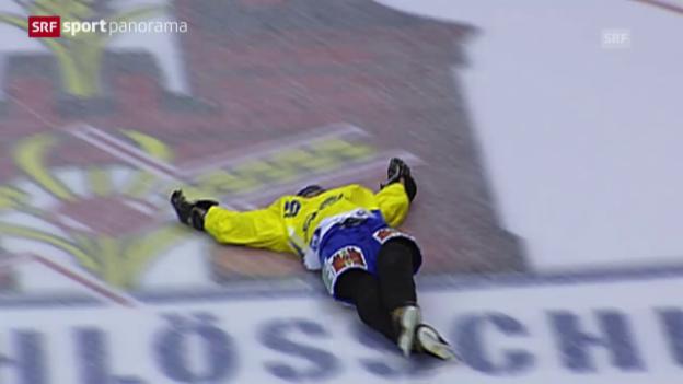Video «Fussball: Marco Streller im «sportpanorama» über seinen Auftritt auf dem Eis» abspielen