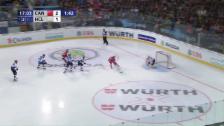 Video «Shorthander kassiert: Lugano von der Chance zum Gegentor» abspielen
