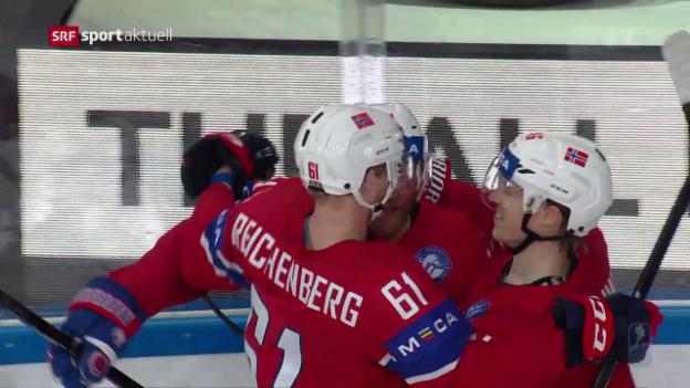 Video «Norwegen besiegt Frankreich» abspielen