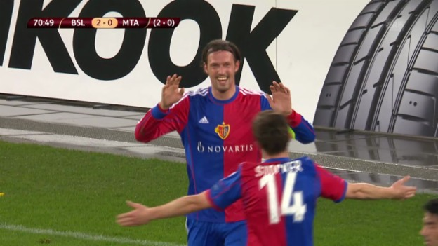 Video «Fussball: Highlights Basel-Maccabi («sportlive», 27.2.14)» abspielen