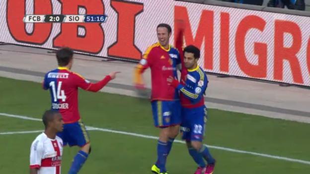 Video «Fussball: Basel-Sion, die Tore» abspielen