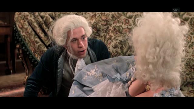 Der Kindskopf Mozart im Film «Amadeus» (Ausschnitt)