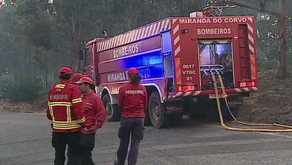 Waldbrände im Zentrum Portugals