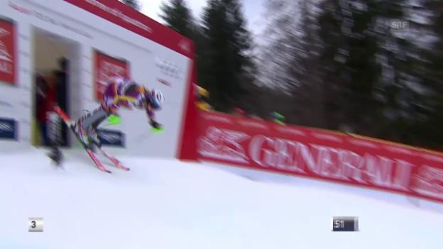 Video «Ski: Männer-Slalom in Kranjska Gora, der 2. Lauf von Kristoffersen» abspielen