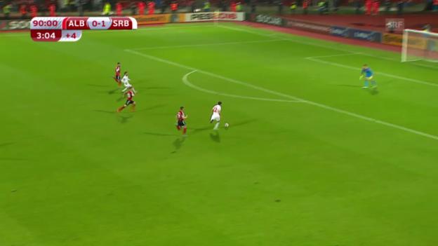Video «Fussball: EM-Qualifikation, Albanien-Serbien» abspielen