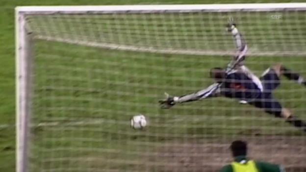 Video «Fussball: Schweiz - Slowenien, Rückblick auf WM-Quali 2002 und 2014» abspielen