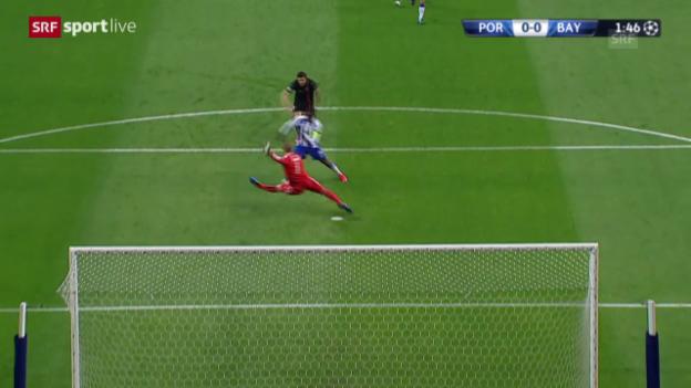 Video «Fussball: Champions League, Viertelfinal, FC Porto – Bayern München, 1:0 Quaresma» abspielen