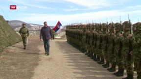 Video «Die Spannungen zwischen Kosovo und Serbien nehmen zu» abspielen