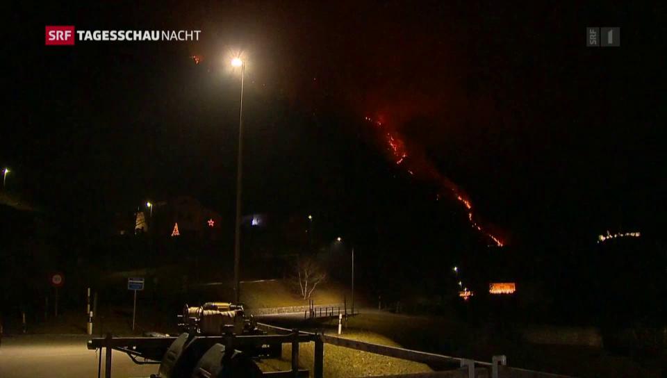 Grosser Waldbrand im Misox