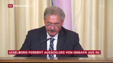 Video «Asselborn will Ungarn aus EU ausschliessen» abspielen