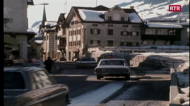 Laschar ir video «Il balcun tort 31.03.1975 - Ina viseta a Trun»