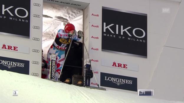 Video «Ski alpin: Riesenslalom Are, 2. Lauf Anemone Marmottan («sportlive», 6.3.14)» abspielen