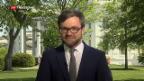 Video «Schaltung nach Washington zu Peter Düggeli zum Thema Atomabkommen» abspielen