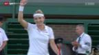 Video «Tennis: Wimbledon, Bacsinszky - Görges» abspielen