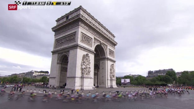 Video «Rad: Tour de France, 21. Etappe» abspielen