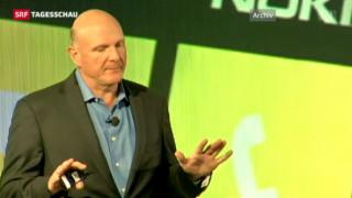 Video «Microsoft-Chef Ballmer zieht sich zurück» abspielen