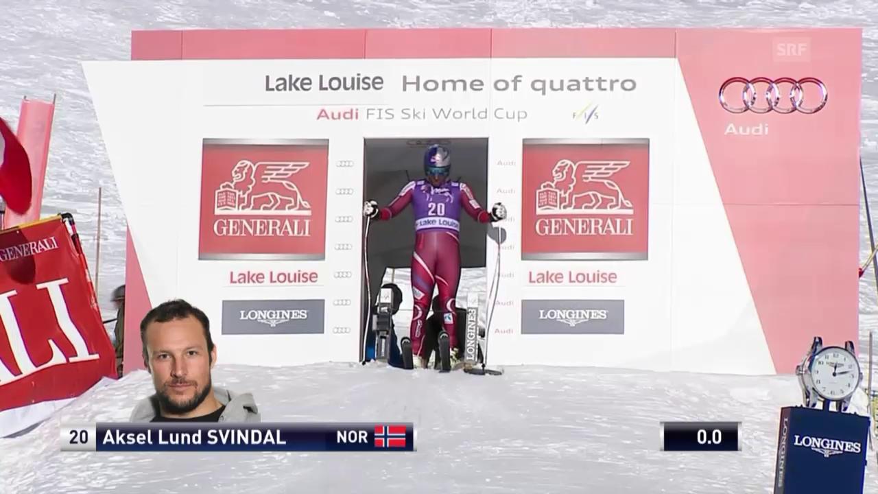 Ski Alpin: Lake Louis Abfahrt, Aksel Svindal