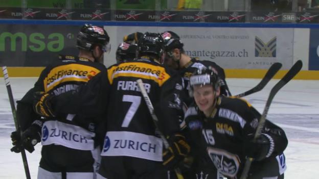 Video «Luganos Hofmann auch gegen Biel in Torlaune» abspielen