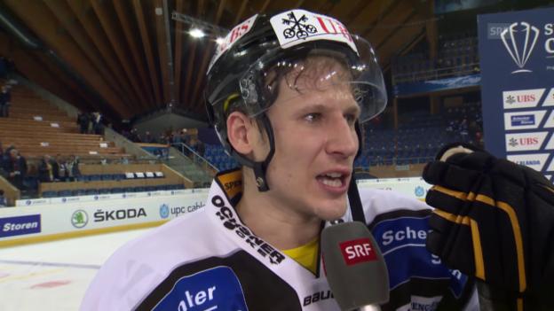 Video «Eishockey: Spengler Cup, Interview Damien Brunner» abspielen