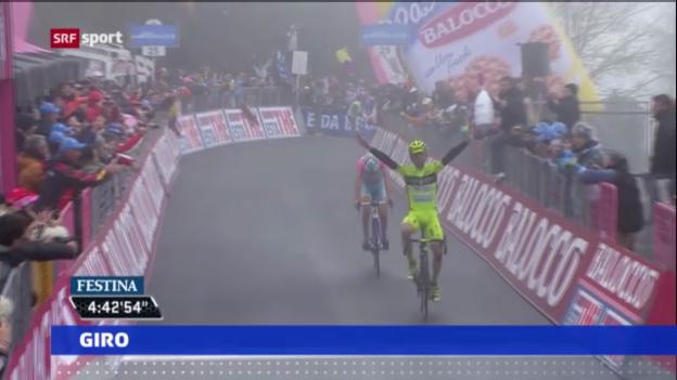 Video «Nibali baut Giro-Führung aus» abspielen
