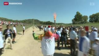 Video «Das Olympia-Feuer brennt » abspielen