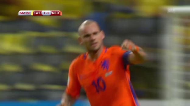 Video «Schweden und Holland trennen sich unentschieden» abspielen