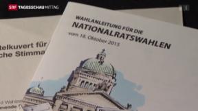 Video «Wahlen Schweizer Parlament» abspielen