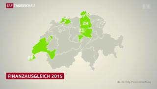 Video «Reiche Kantone bezahlen noch mehr für schwächere Kantone» abspielen