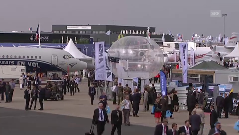 Flugzeug-Messe in Le Bourget (ohne Kommentar)