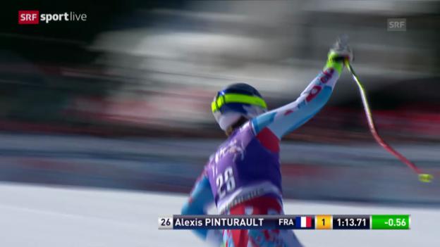 Video «Ski: Zusammenfassung Super-G Männer Lenzerheide («sportlive», 13.3.14)» abspielen