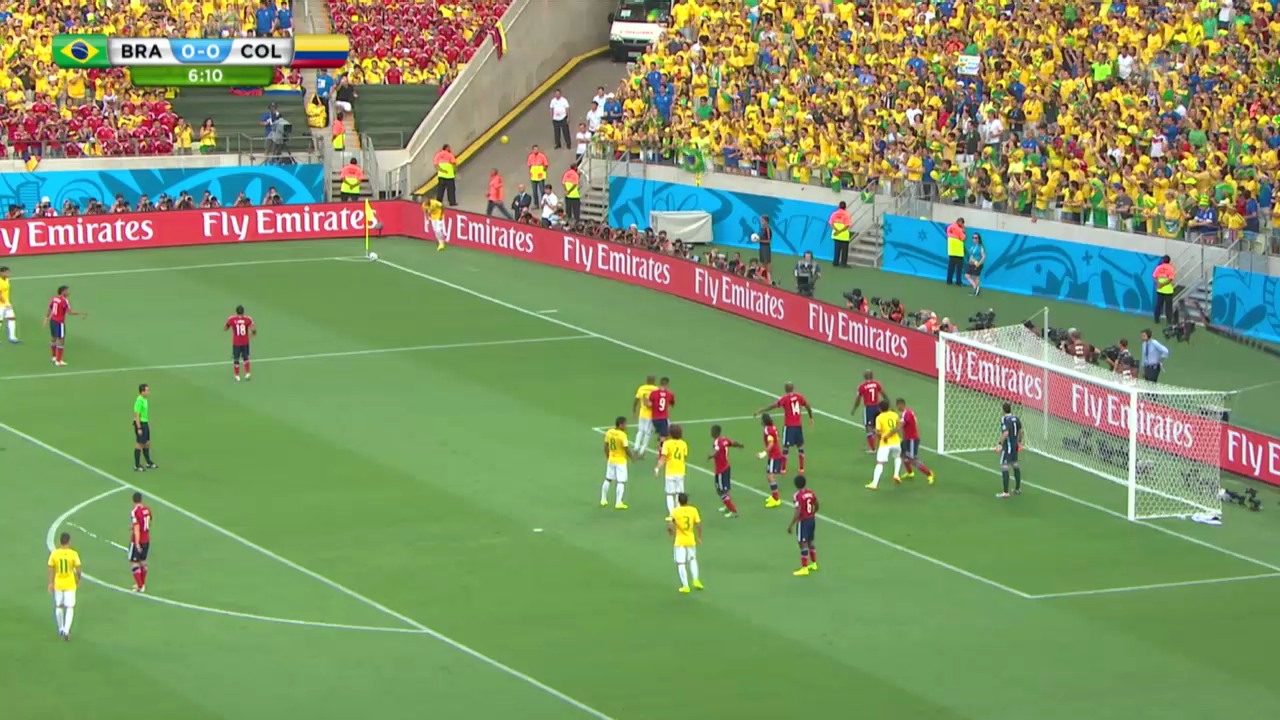 FIFA WM 2014: Brasilien-Kolumbien - Live-Highlights