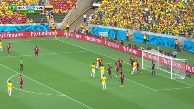 Video «FIFA WM 2014: Brasilien-Kolumbien - Live-Highlights» abspielen