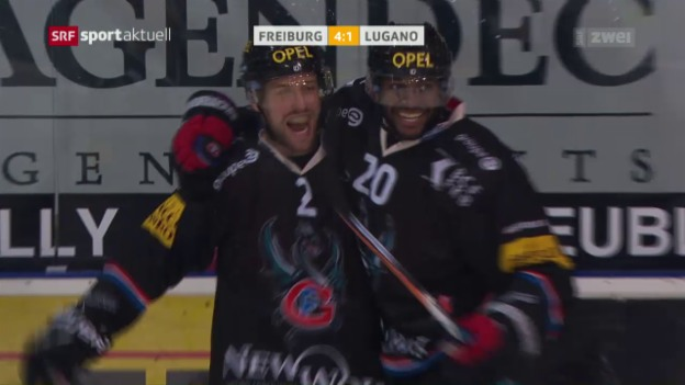 Video «Freiburg setzt Siegeszug gegen Lugano fort» abspielen
