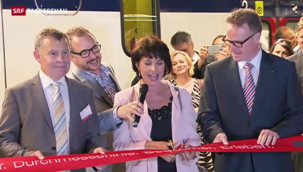 Video «Durchmesserlinie in Zürich eröffnet» abspielen