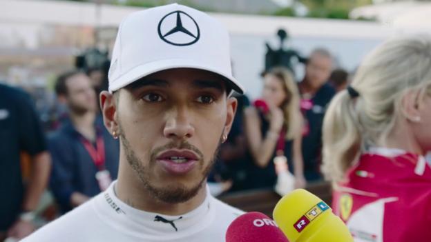 Video «Hamilton: «Rang 2 ist kein schlechter Start»» abspielen