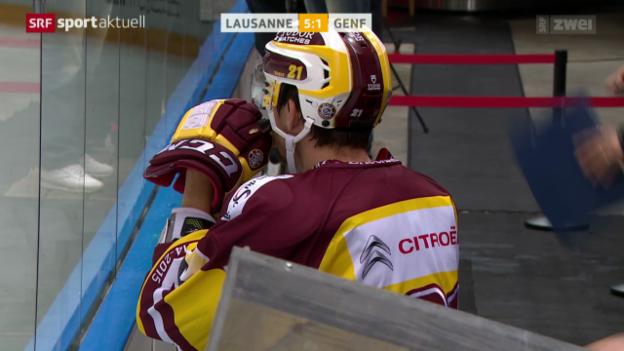 Video «Eishockey: NLA, Lausanne - Genf-Servette» abspielen