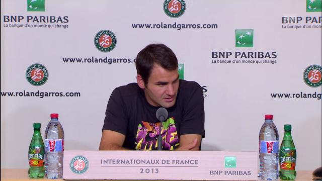 Federer vor dem Spiel gegen Tsonga
