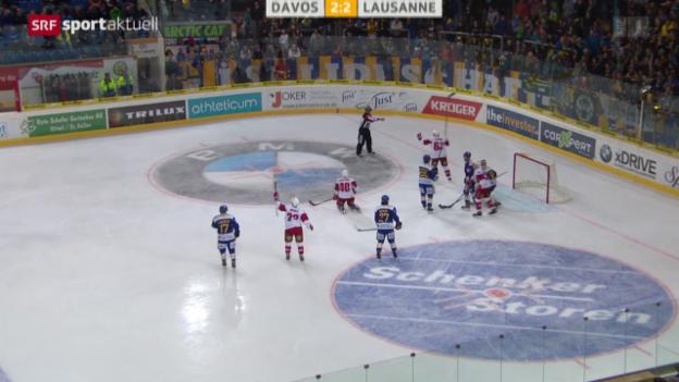 Video «Eishockey: NLA, 11. Runde, Davos - Lausanne» abspielen