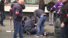Video «Neue Krawalle in Brüssel» abspielen