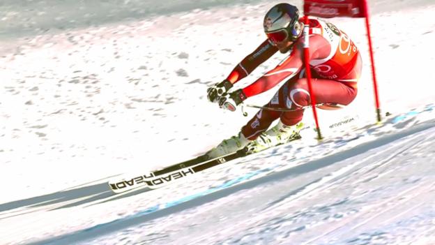 Video «Ski Alpin, Weltcup, Super-G Gröden, Fahrt Svindal» abspielen