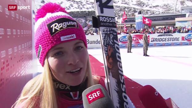 Video «RS Sölden: Interview mit Lara Gut» abspielen