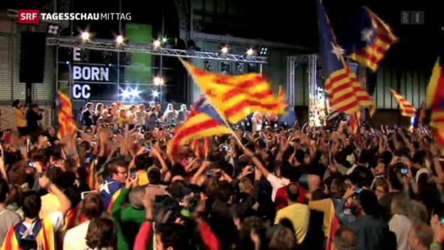 Video «Separatistischen Parteien gewinnen Regionalwahlen in Katalonien» abspielen