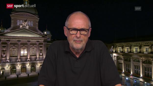Video «Fussball: Peter Gilliéron über den Rücktritt von Fifa-Präsident Joseph S. Blatter» abspielen