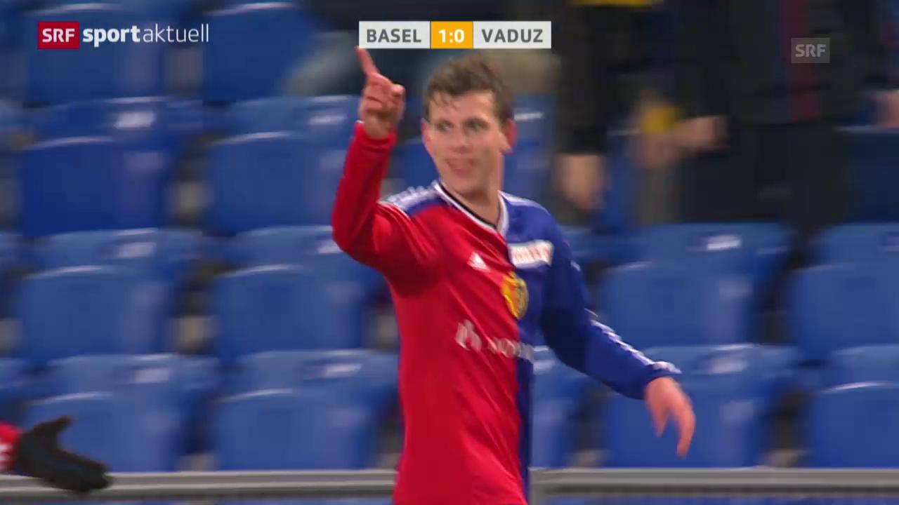 Fussball: Basel siegt gegen Vaduz