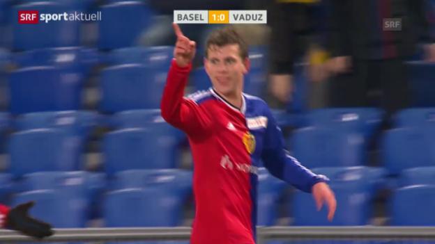 Video «Fussball: Basel siegt gegen Vaduz» abspielen