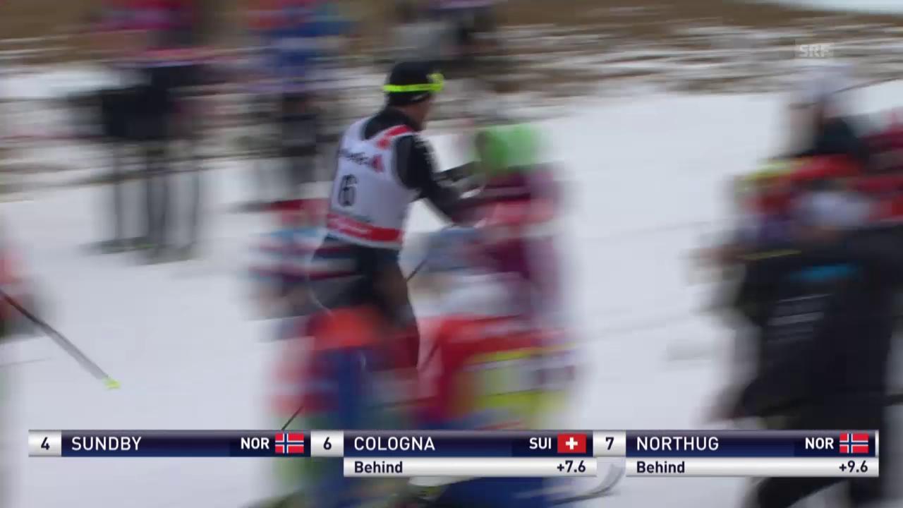 Langlauf: Tour de Ski, Cologna verliert Flasche und Anschluss