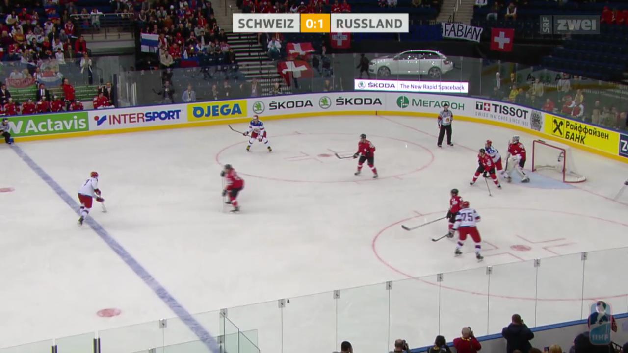 Eishockey: Schweiz verliert WM-Auftakt gegen Russland