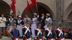 Video «Fahnenübergabe Eidgenössisches Jodlerfest Brig-Glis 1987» abspielen