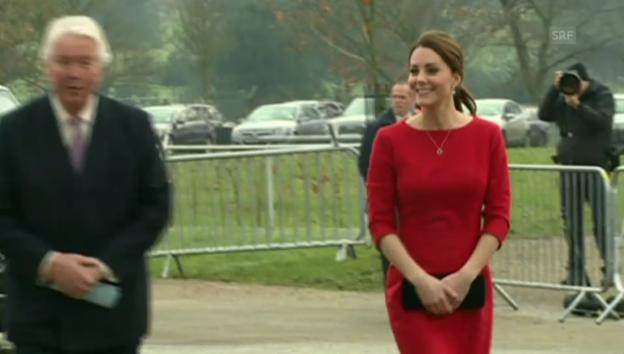 Video «Herzogin Kate eröffnet Kinderhospiz (unkomm.)» abspielen